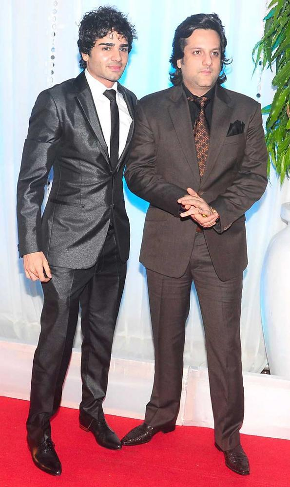 Fardeen Khan with a Guest at The Wedding Reception Of Esha Deol