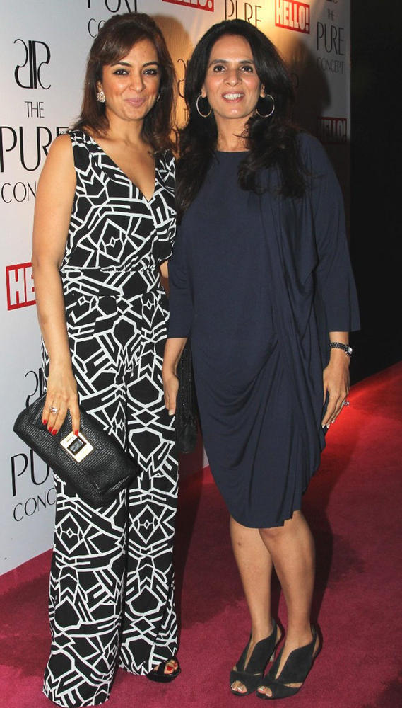 Lata Patel with Anita Dongre at Pure Concept Store Launch