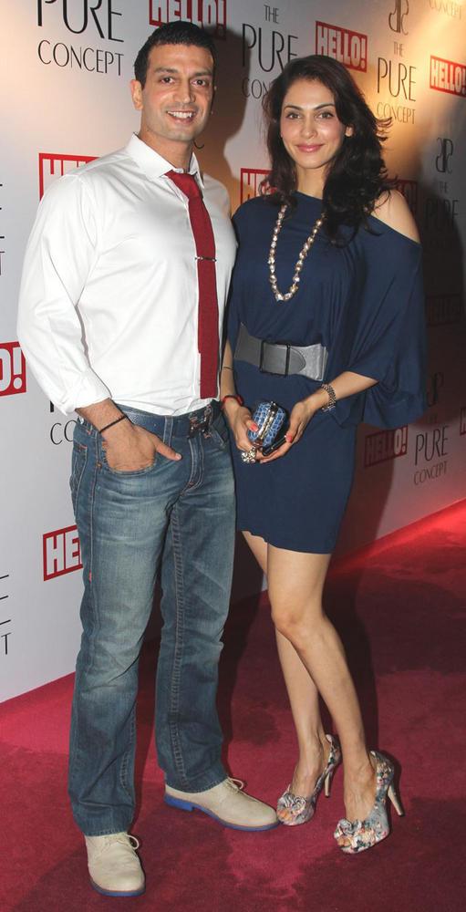Timmy Narang and Isha Koppikar at Pure Concept Store Launch