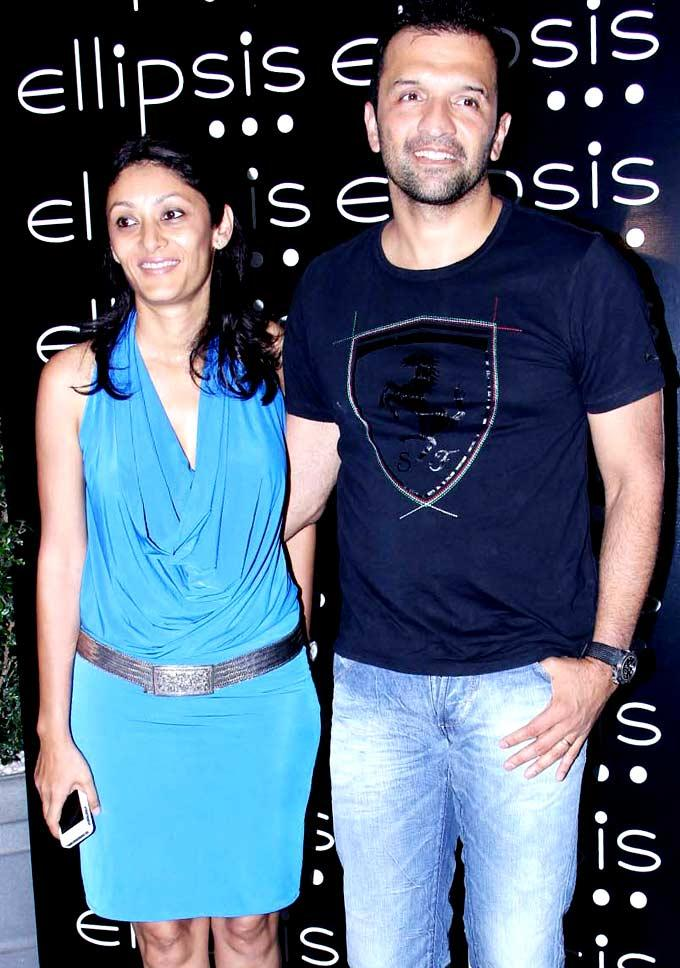 Atul and Vandana Kasbekar Sweet Pose at Grand Opening Of Ellipsis Restaurant