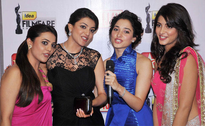 South Hotties Strikes a Pose at 59th Filmfare South Awards
