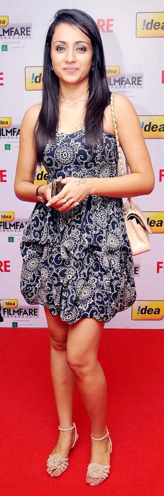 Trisha Short Dress Nice Pic at 59th Filmfare South Awards