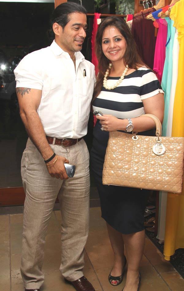 Kiran Bawa With Her Boyfriend at a Fashion Shop