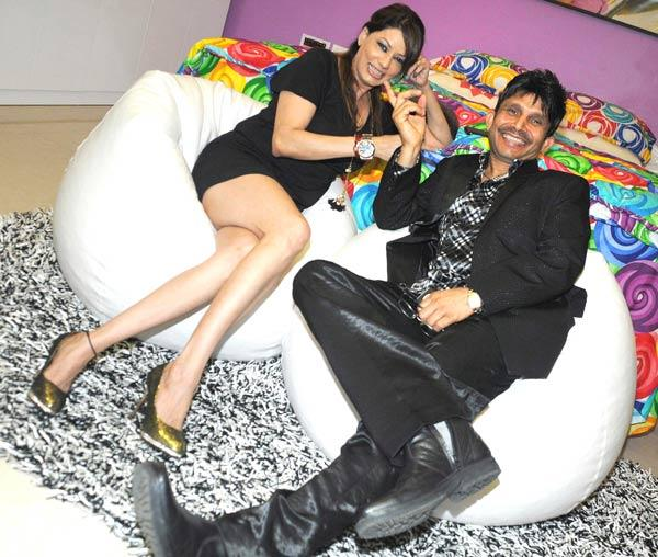Kamaal R Khan With Poonam Jhaver At His House Warming Party