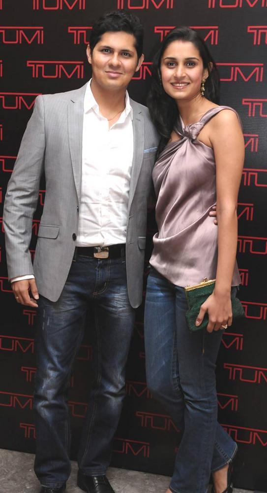 Vishal and Rashi Malhotra Attended The Tumi Store Launch
