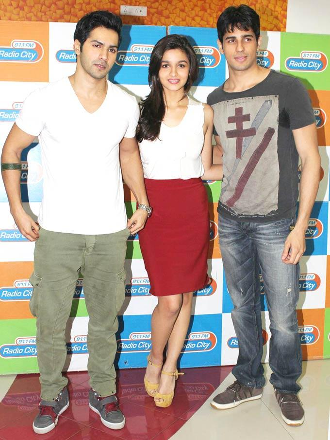 Alia,Varun and Siddharth at Radio City To Launch Student Of The Year Music