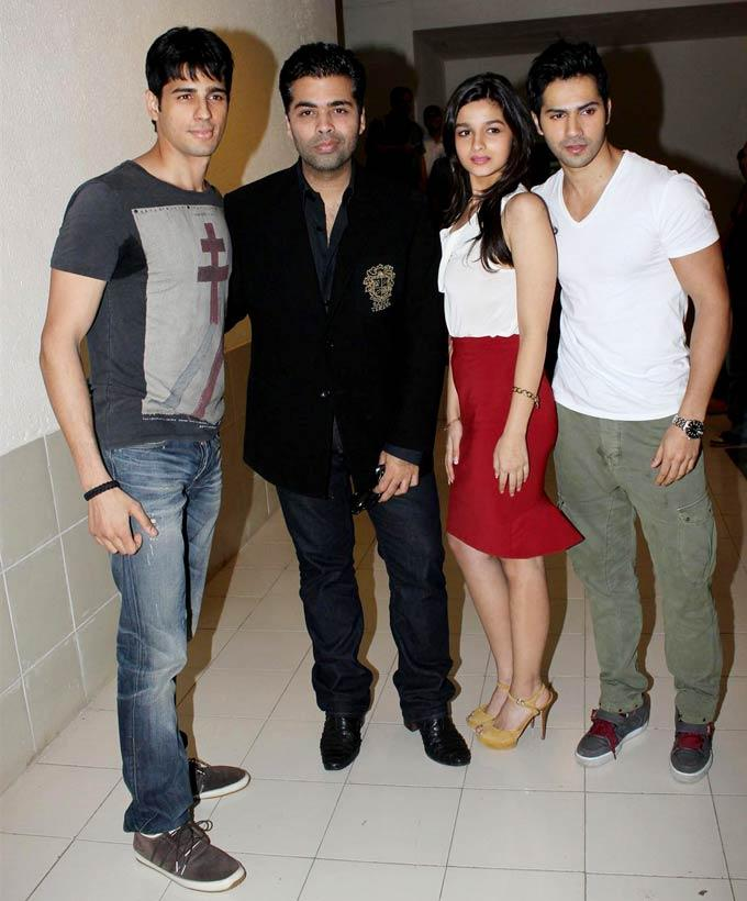 Alia,Varun,Siddharth and Karan Spotted at Radio City 91.1 To Launch Student Of The Year Music