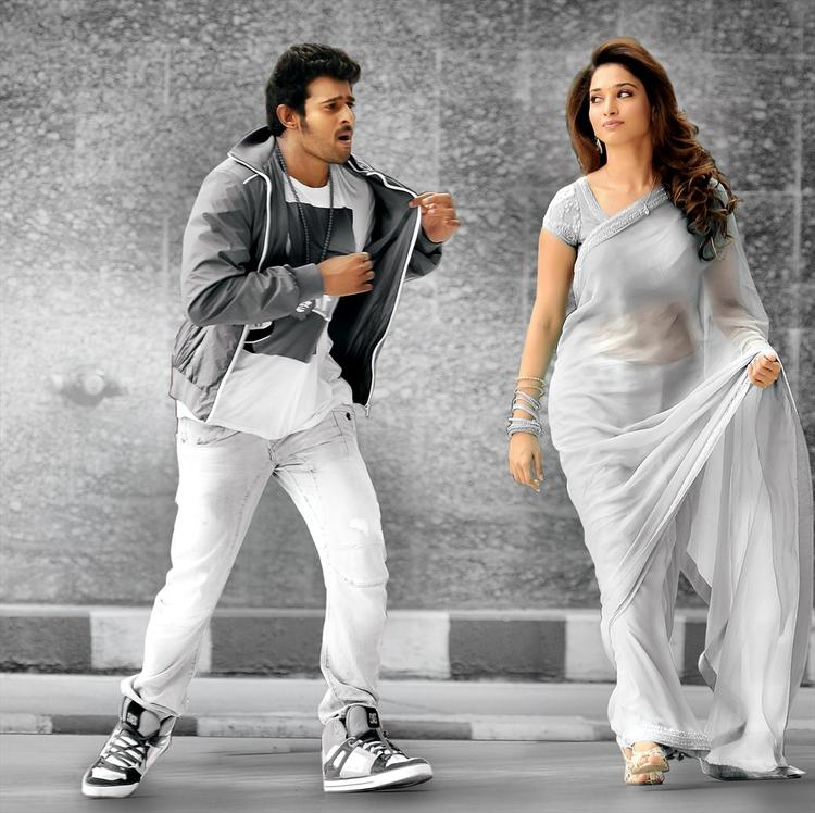 Prabhas and Tamanna A Still From The Movie Rebel