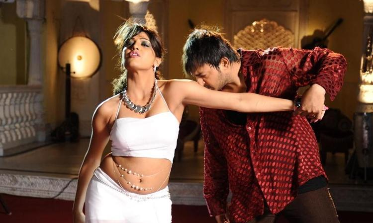 Tashu Kaushik and Tanish Spicy Still In Abbai Movie