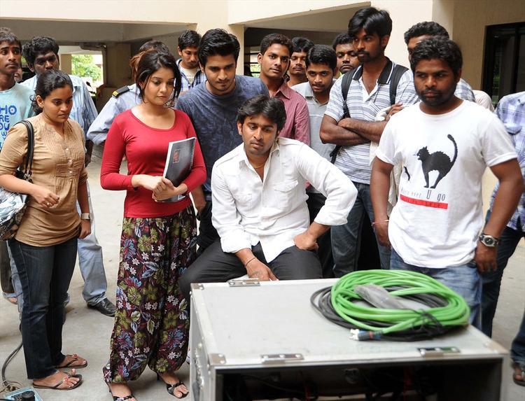 Nikhil Siddharth and Swathi Shooting Set Still