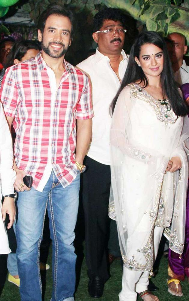 Tusshar and Kangana Spotted at Ganpati Celebrations