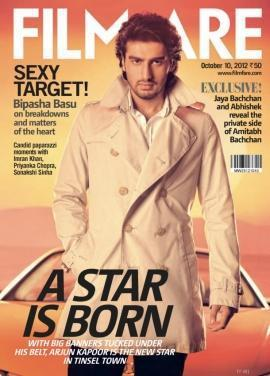 Arjun Kapoor On The Cover Page Of Filmfare Oct 2012