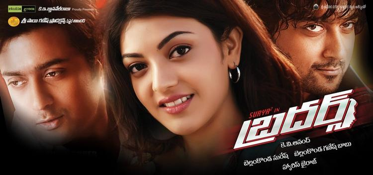 Kajal And Surya In Their Upcoming Movie Brothers Wallpaper
