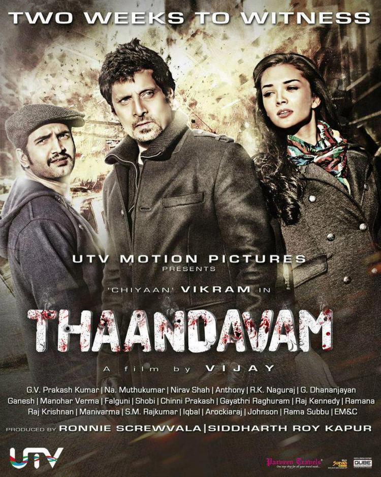 Vikram And Amy Jackson In Thandavam Movie Poster
