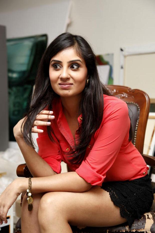 Bhanu Sri Mehra Cute Hot Still In Black Skirt and Red Tops