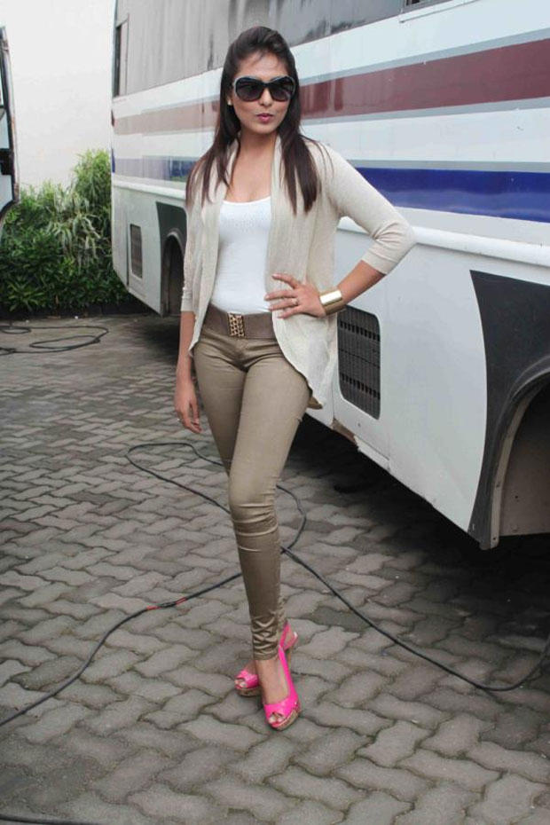 Madhu Shalini Poses During A Promotion For The Forthcoming Hindi Film Bhoot Returns