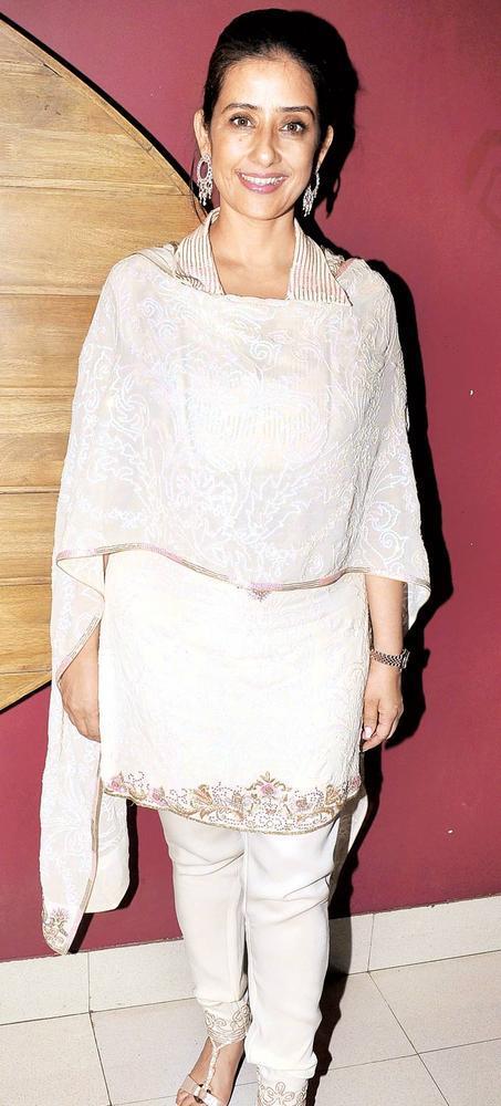 Manisha Koirala Clicked A Pose At The Screening Of Bhoot Returns
