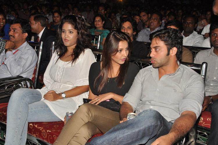 Navdeep And Madhu Spotted At Aurora College Function