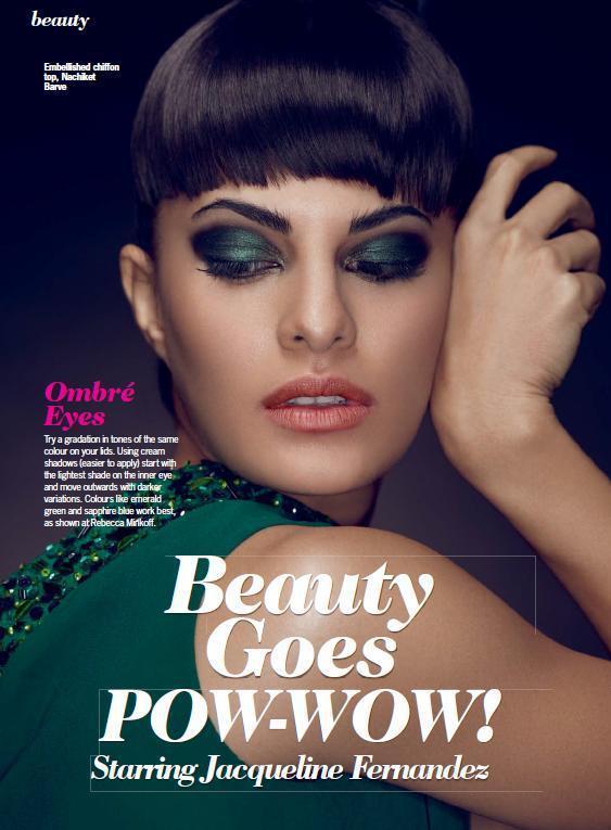 Jacqueline Fernandez Glamour Look For Cosmopolitan India October 2012