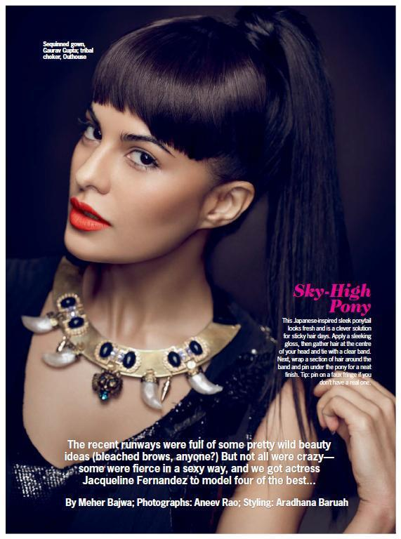 Jacqueline Sizzling Look Photo Shoot For Cosmopolitan India October 2012