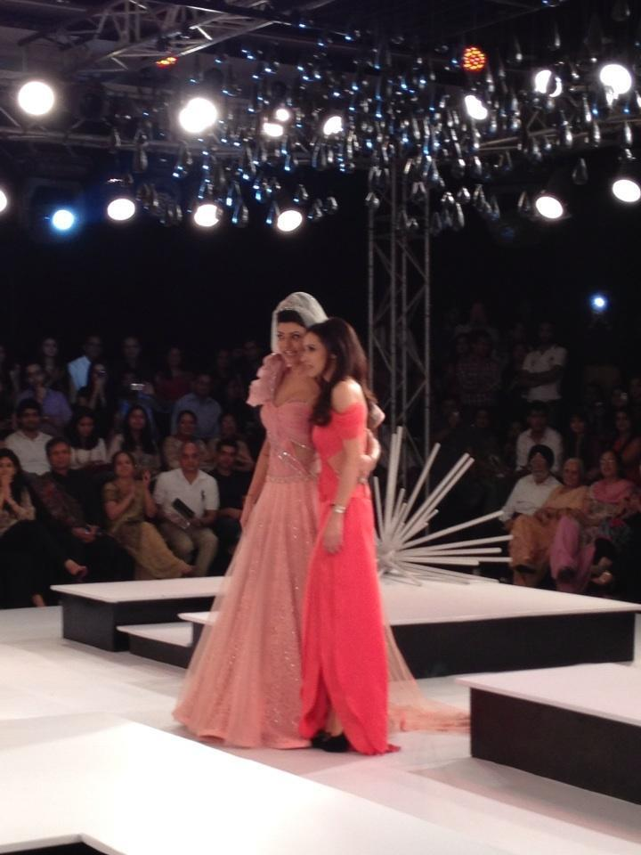 Sushmita With Mandira On Ramp Still