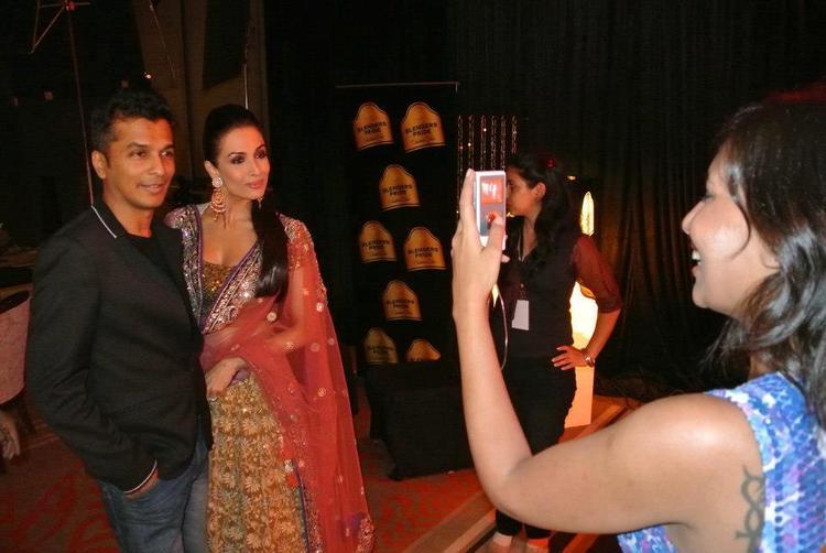 Vikram And Malaika Still Taken By A Fan  At Blenders Pride Fashion Tour 2012
