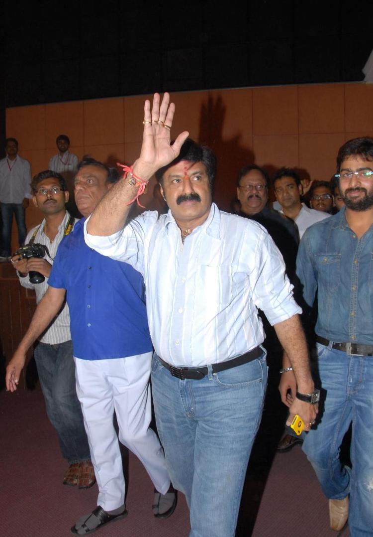 Balakrishna Greets His Fans At Okkadine Audio Release Function