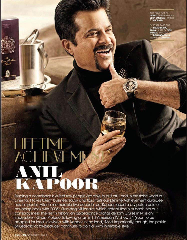 Anil Kapoor Smiling Still For GQ India Magazine October 2012