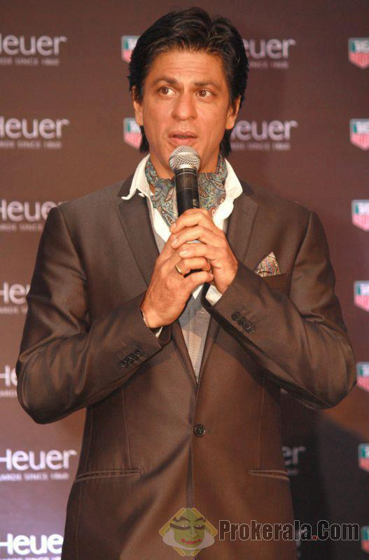 Srk During The Launching Of Tag Heuer's Carrera 1887 Collection