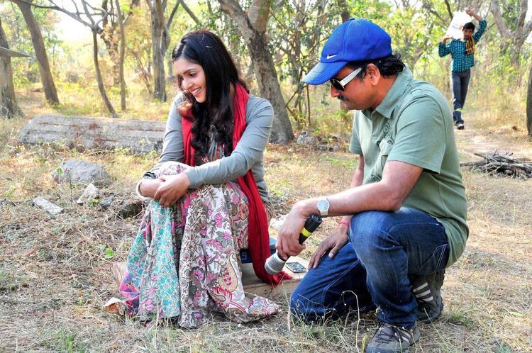 Sanchita And Neelakantha Photo Clicked At Chammak Challo Set