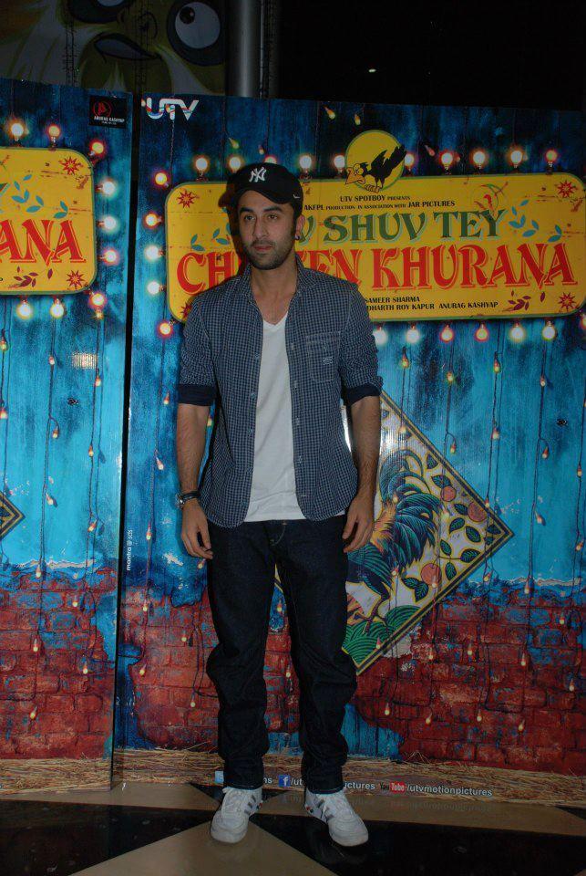 Ranbir Kapoor At Luv Shuv Tey Chicken Khurana Premiere