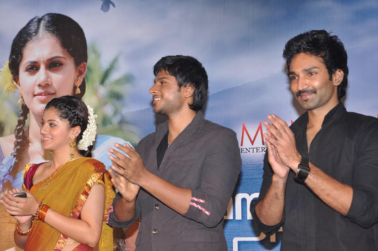Aadhi,Sandeep And Tapsee Attend The Audio Launch Of Maranthen Mannithen