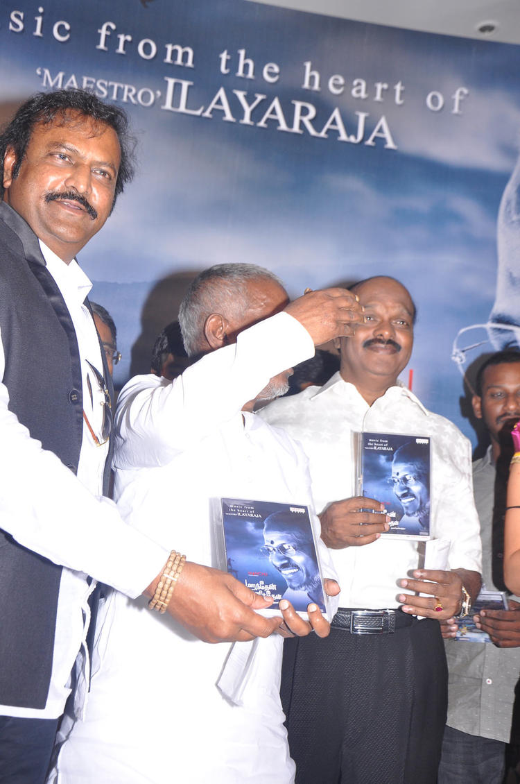 Ilayaraja Launches The Audio CD At Maranthen Mannithen Movie Audio Launch