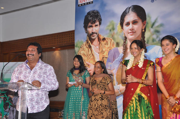 Tapsee And Lakshmi At Maranthen Mannithen Movie Audio Launch