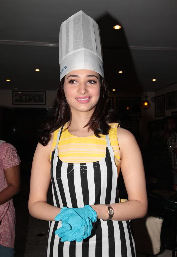 Tamanna In A Chef Look At Taj Banjara Hotel