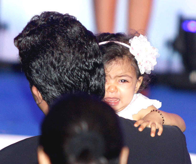 A Cute Pic Of Aaradhya At French Civilian Award 2012