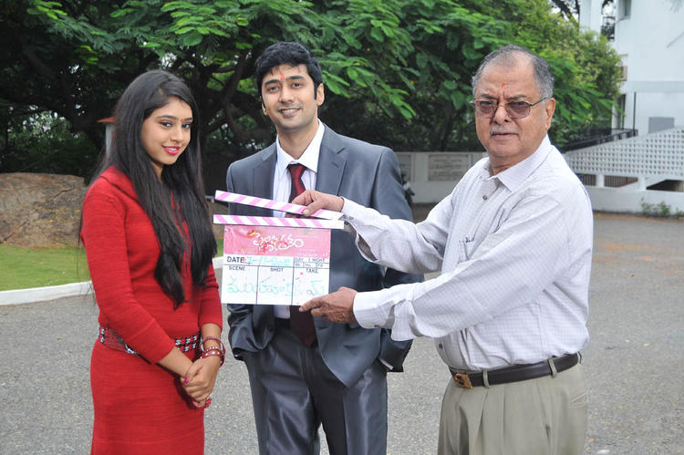 Rahul And Neethi Photo Still At Pelli Pusthakam Movie Launch Event