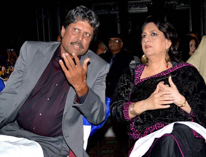 Kapil Dev Chats With Sunil Gavaskar's Wife Marshneil At The Launch Of Ulysse Nardin 34 Watches
