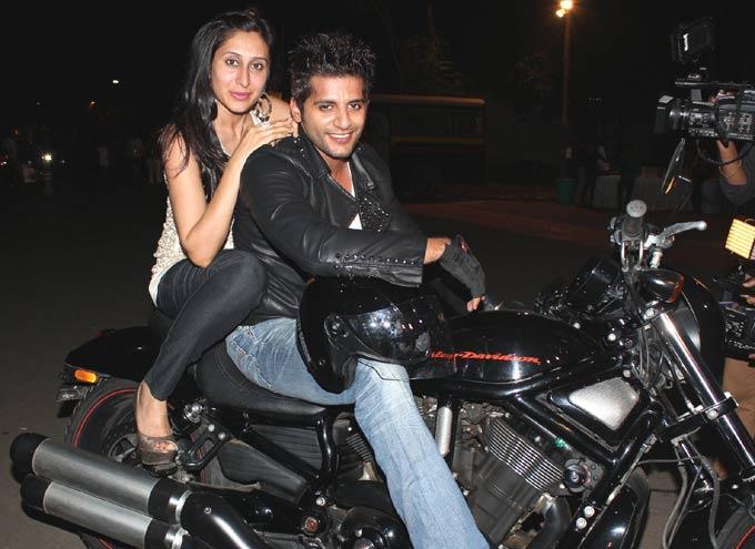 Teejay And Karanvir Photo Clicked On Bike At The 12th Indian Television Academy Awards