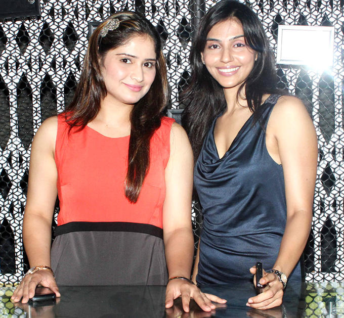 Alka Verma With A Friend Smiling Pose At The Coffee Adda Launch
