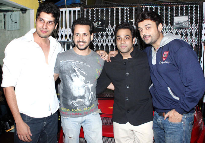 Rakesh,Abhishek And Bhaumik Clicked At The Coffee Adda Launch