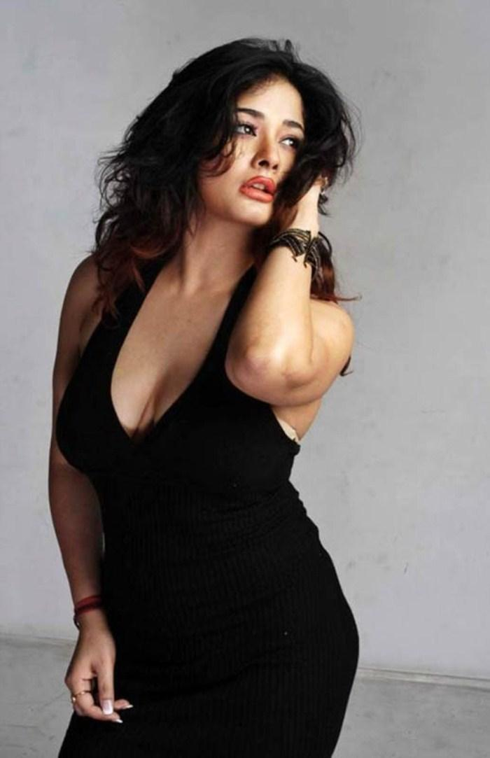 Kiran Rathod Spicy In Black Dress Still