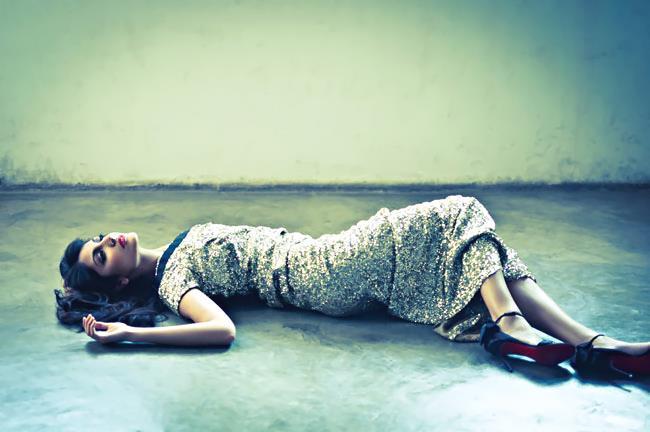 Anushka Hot And Sexy Sleeping Still For Harper's Bazaar Mgazine