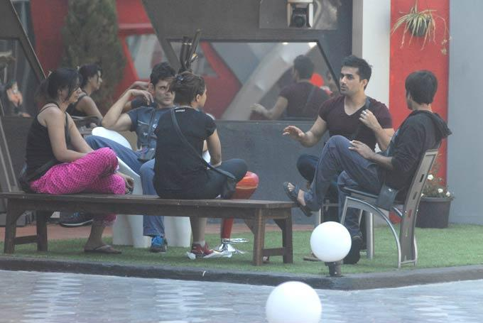 Contestants Are In Garden Area Of Bigg Boss 6