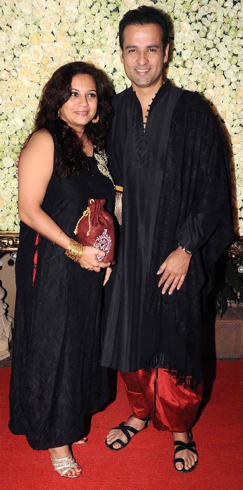 Rohit Roy With Wife Mansi Snapped At Kiran Bawa's Diwali Bash