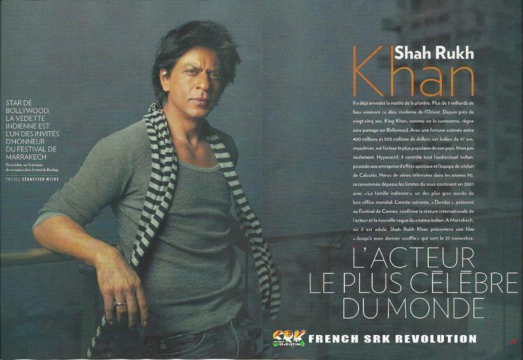 Shahrukh On The French Weekly Magazine Paris Match November 2012