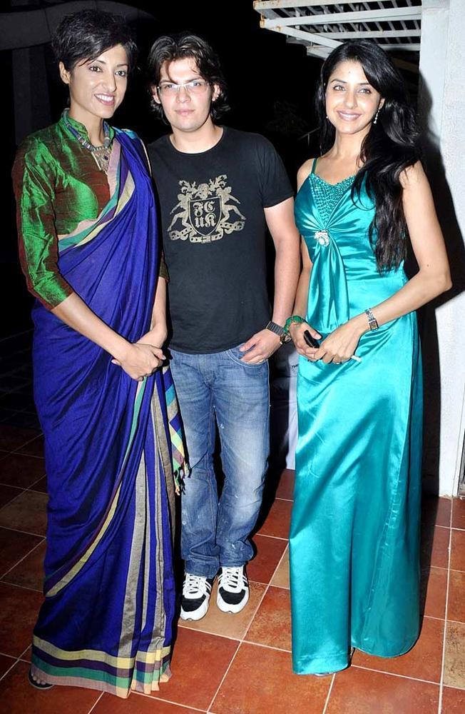 Jesse Randhawa With Sahil And Saadhika  At Her Birthday Bash