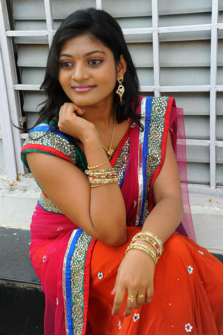 Soumya In Saree Beautiful Look Still At Chowrasta Movie Launch