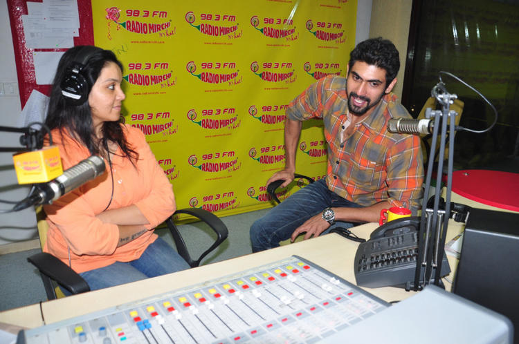 Rana Daggubati Spotted At Radio Mirchi For Promoting KVJ Movie