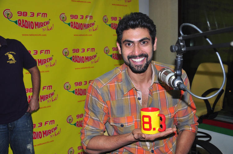 Rana Smiling Still At Radio Mirchi For Promoting KVJ Movie